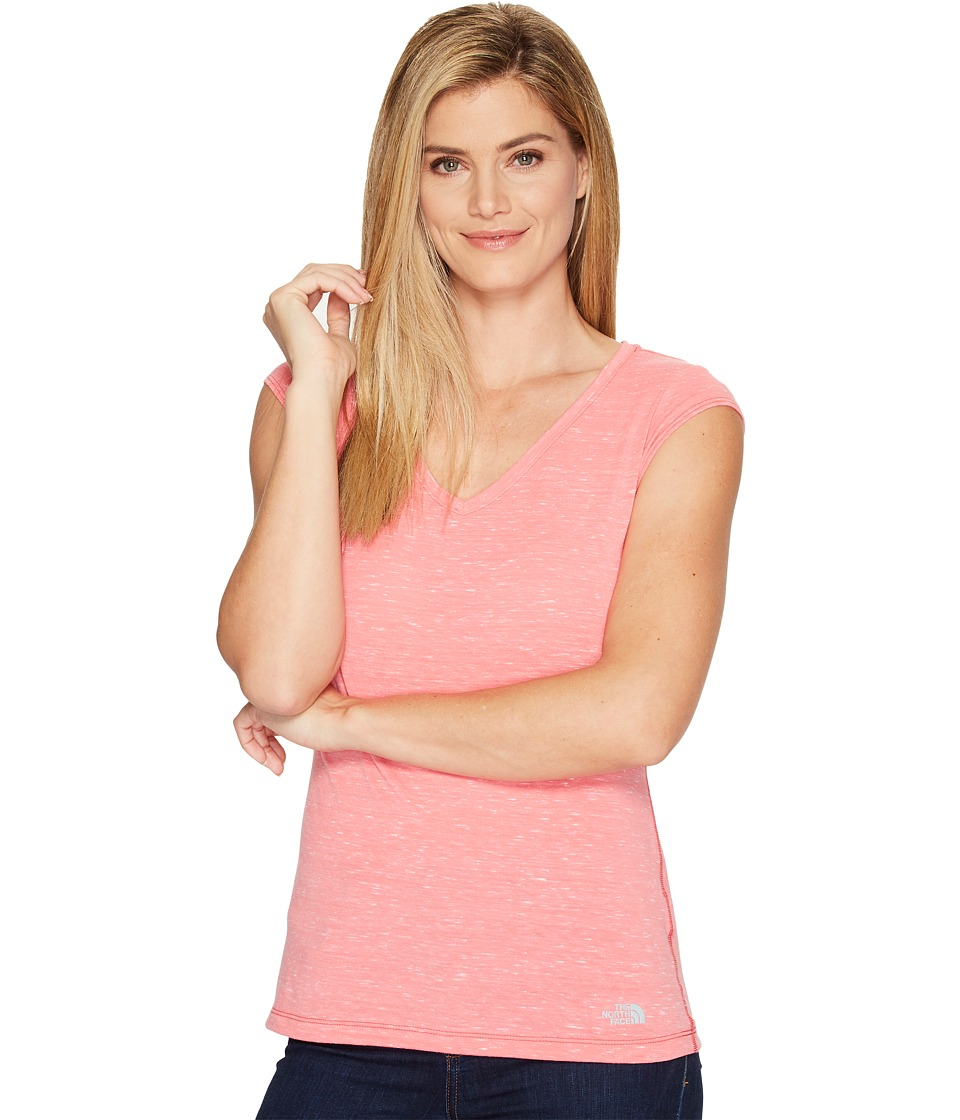 The North Face Short Sleeve EZ Tee (Honeysuckle Pink Melange (Prior Season)) Women
