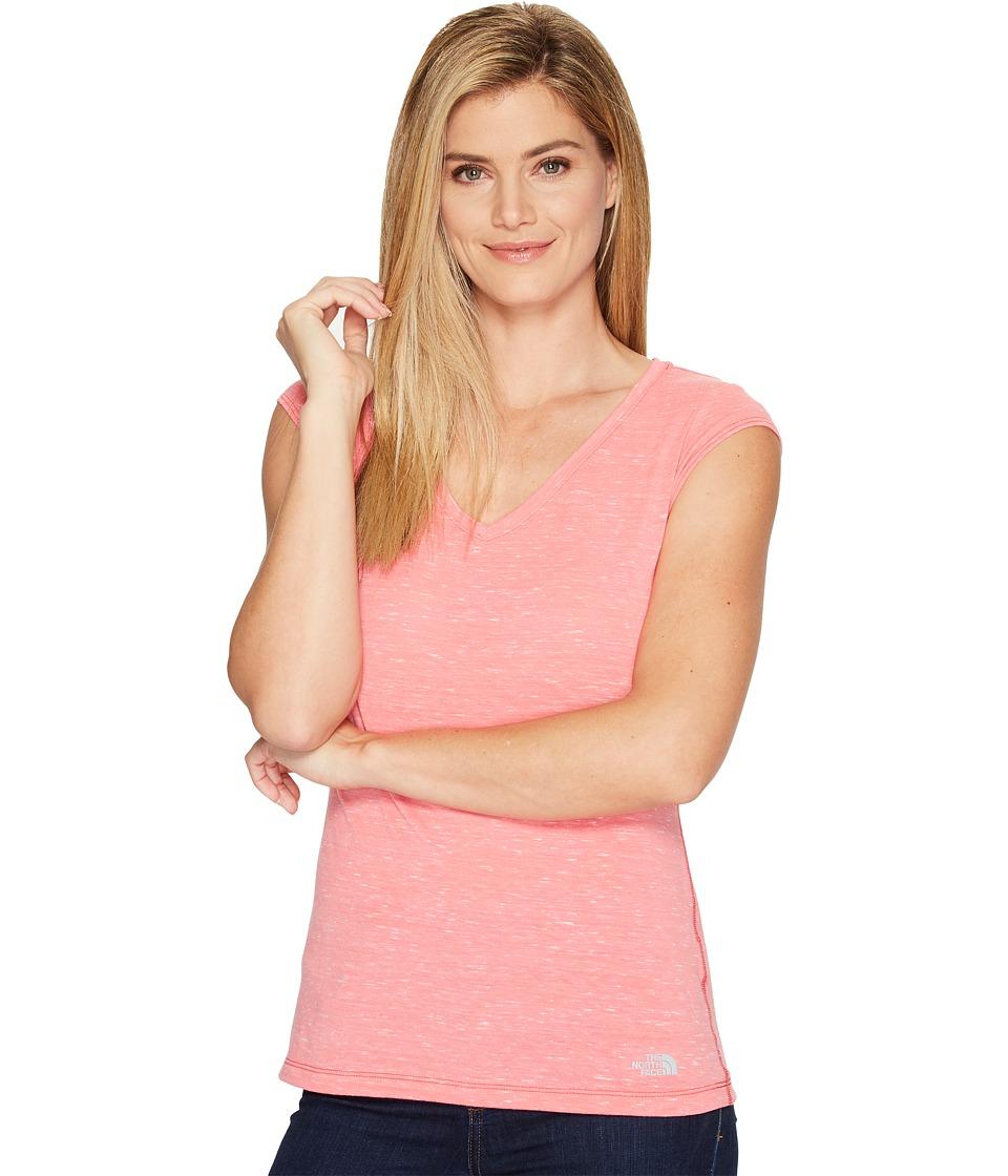 The North Face - Short Sleeve EZ Tee (Honeysuckle Pink Melange (Prior Season)) Women's T Shirt