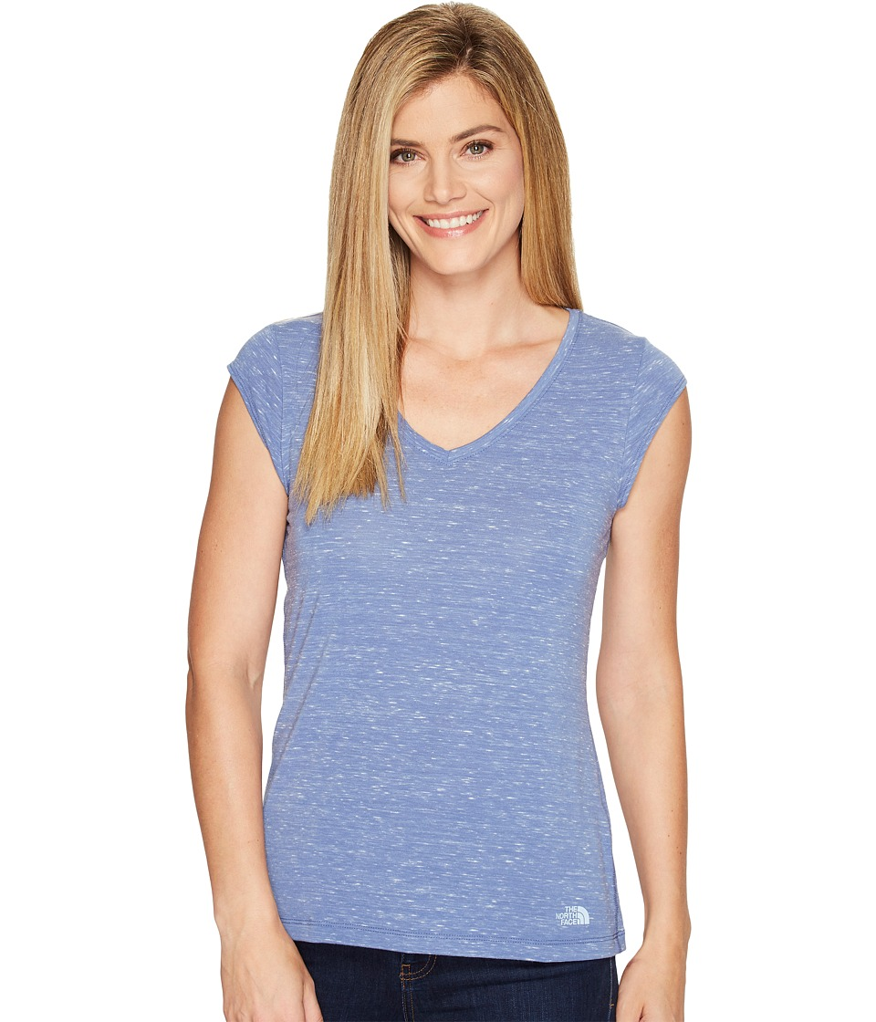 The North Face - Short Sleeve EZ Tee (Coastal Fjord Blue Melange (Prior Season)) Women's T Shirt