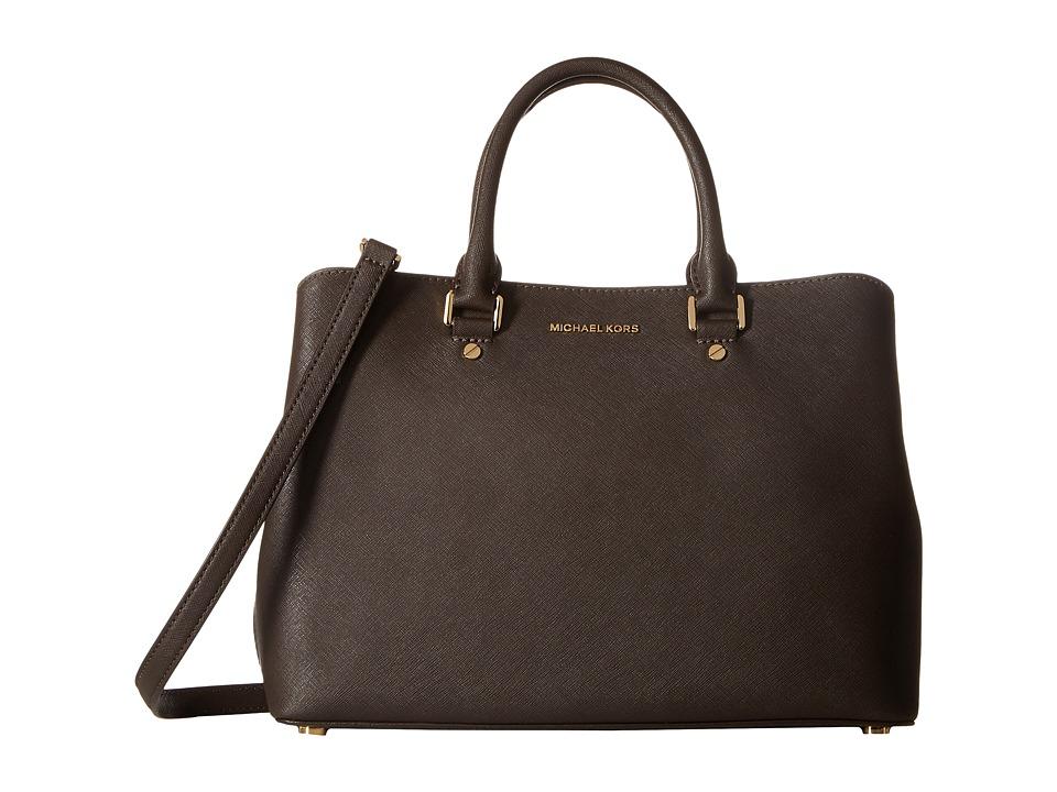 MICHAEL Michael Kors - Savannah Lg Satchel (Coffee) Satchel Handbags