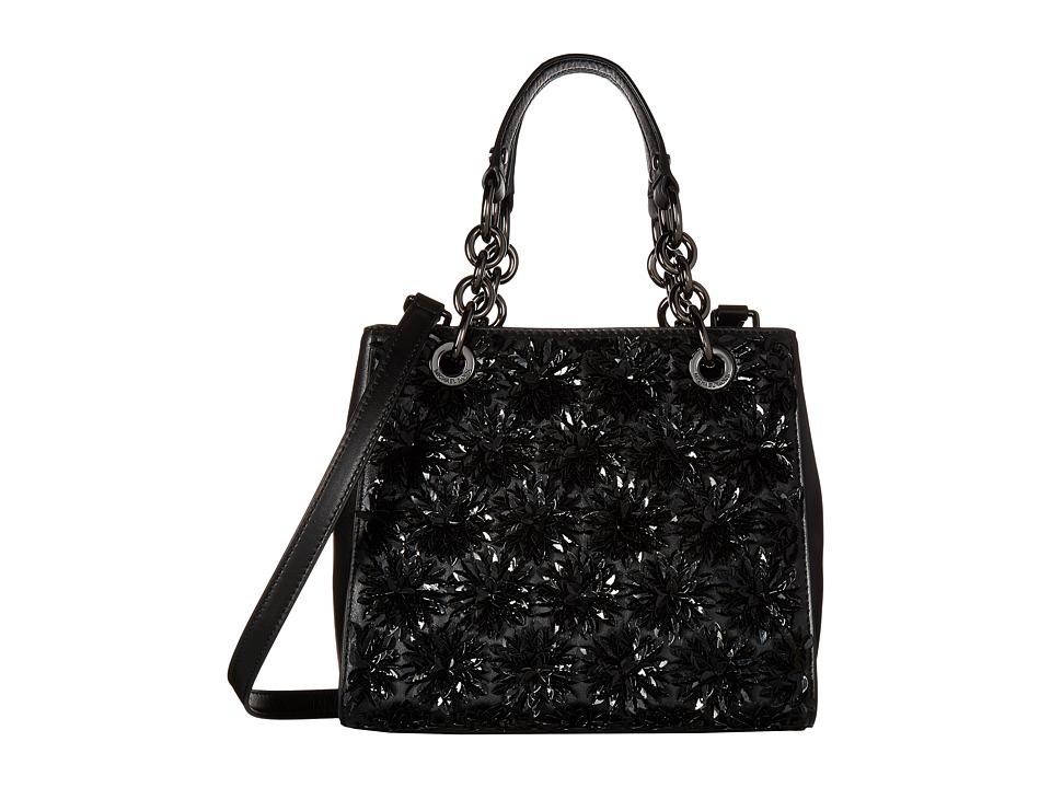 MICHAEL Michael Kors - Flora Burst Sm Ns Satchel (Black) Satchel Handbags