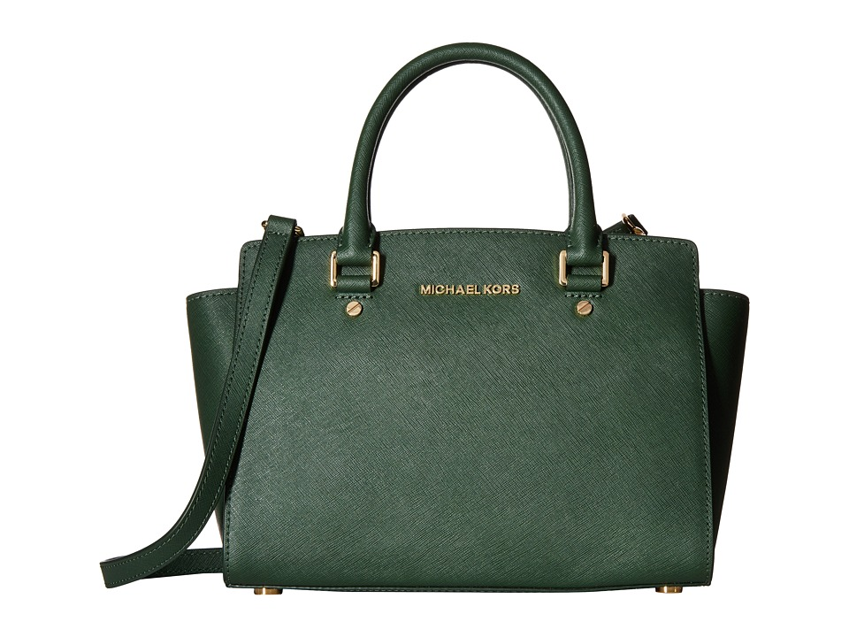 MICHAEL Michael Kors - Selma Medium Tz Satchel (Moss) Satchel Handbags