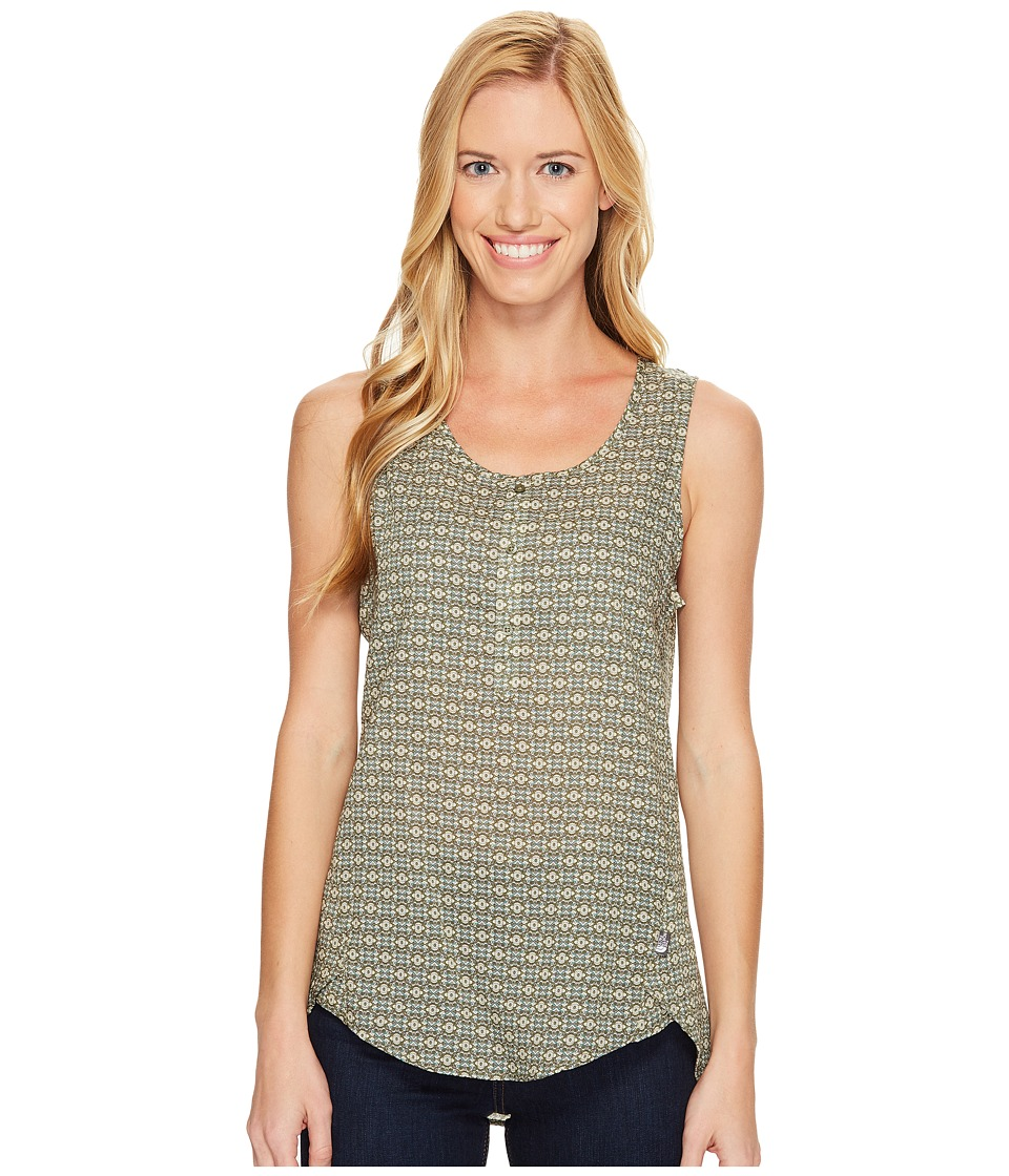 The North Face - Touring Tank Top (Deep Lichen Green Floral Print (Prior Season)) Women's Sleeveless