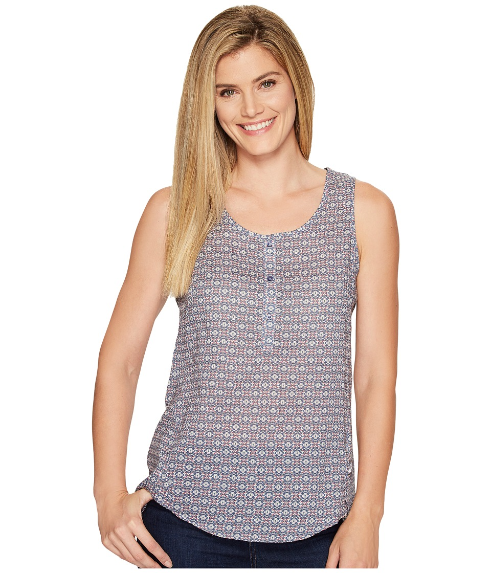 The North Face - Touring Tank Top (Coastal Fjord Blue Floral Print (Prior Season)) Women's Sleeveless