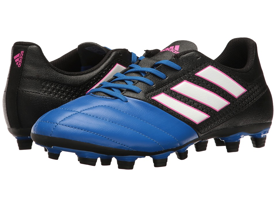 adidas - Ace 17.4 FxG (Core Black/Footwear White/Blue) Men's Soccer Shoes