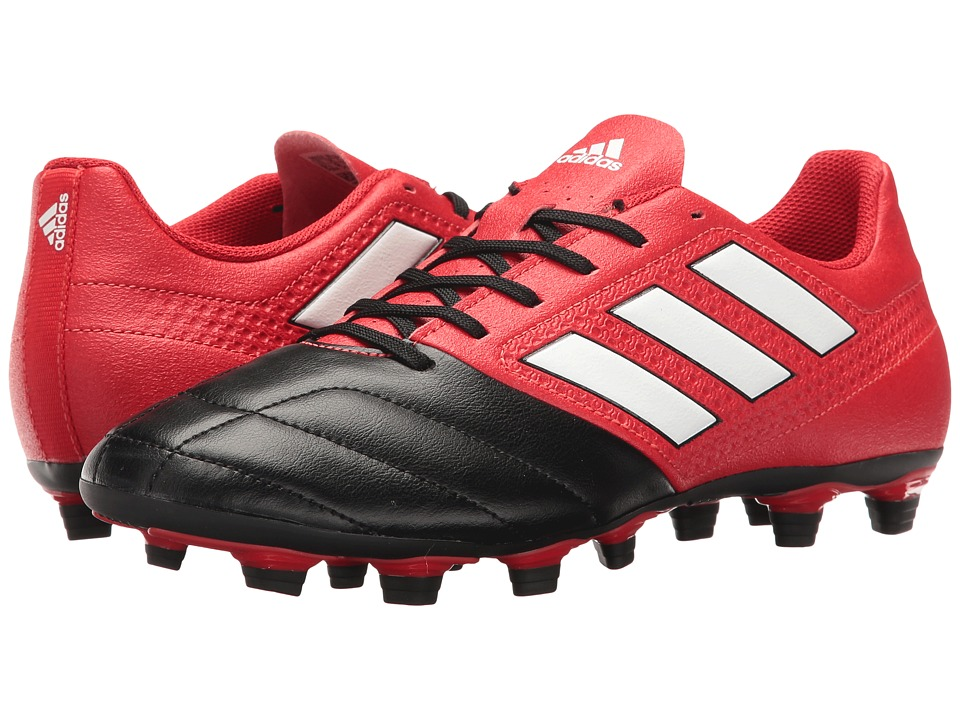 adidas - Ace 17.4 FxG (Red/Footwear White/Black) Men's Soccer Shoes