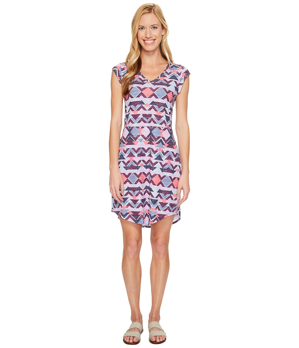 The North Face - Short Sleeve EZ Tee Dress (Honeysuckle Pink Triangle Tribal Print (Prior Season)) Women's Dress