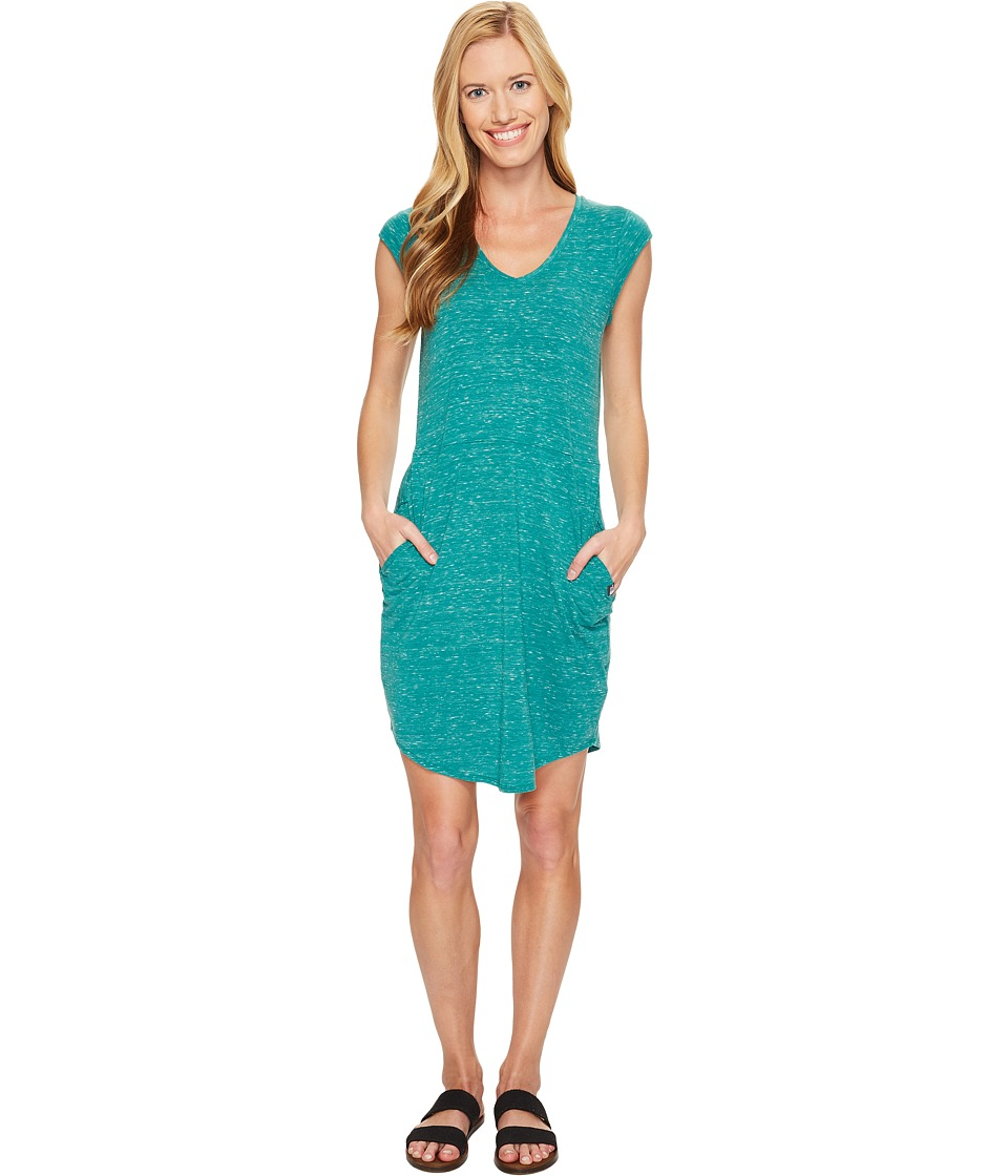 The North Face - Short Sleeve EZ Tee Dress (Conifer Teal Heather (Prior Season)) Women's Dress