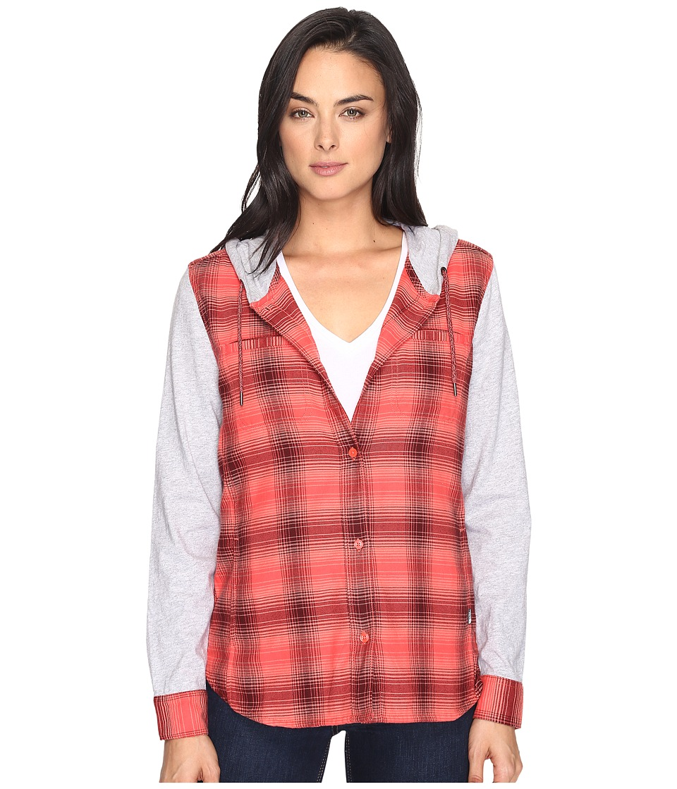 The North Face - Campground Shacket (Cayenne Red Plaid (Prior Season)) Women's Sweatshirt