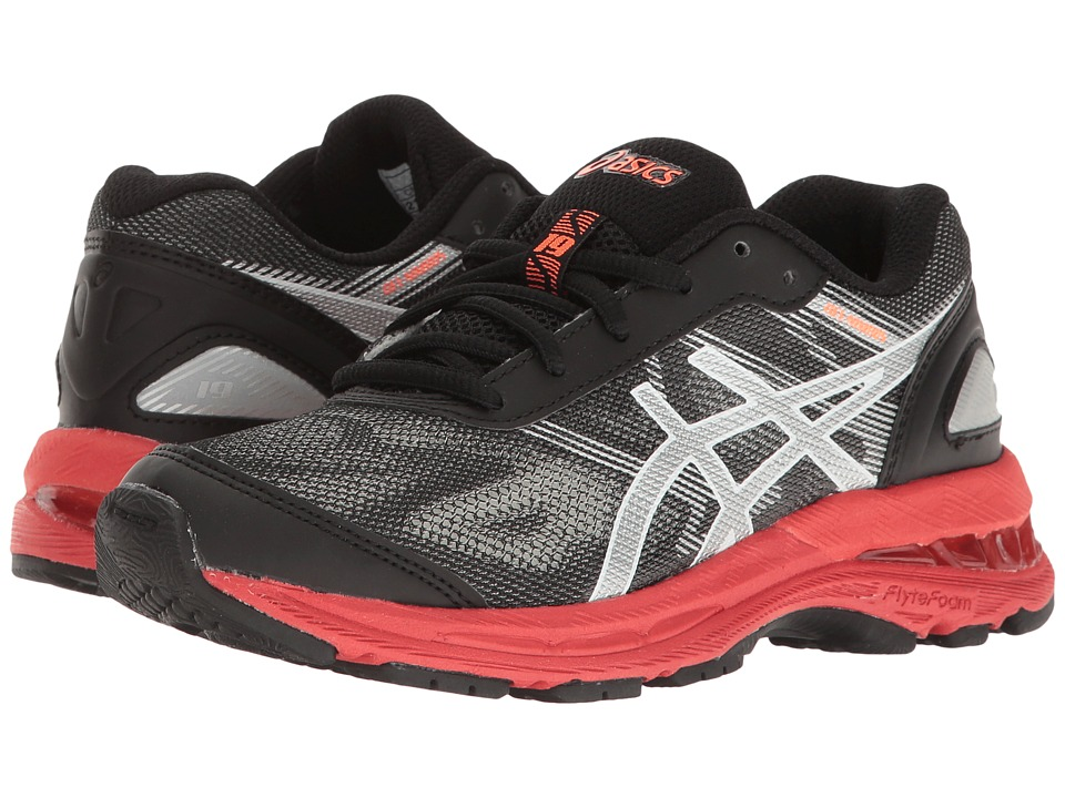 ASICS Kids - GEL-Nimbus(r) 19 GS (Little Kid/Big Kid) (Black/Silver/Vermillion) Boys Shoes