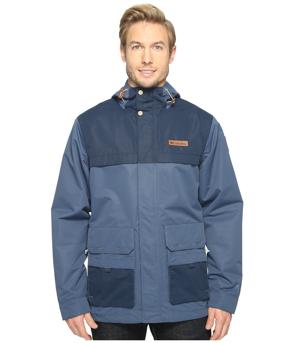 Columbia - South Canyon Jacket (Zinc/Collegiate Navy) Men's Coat