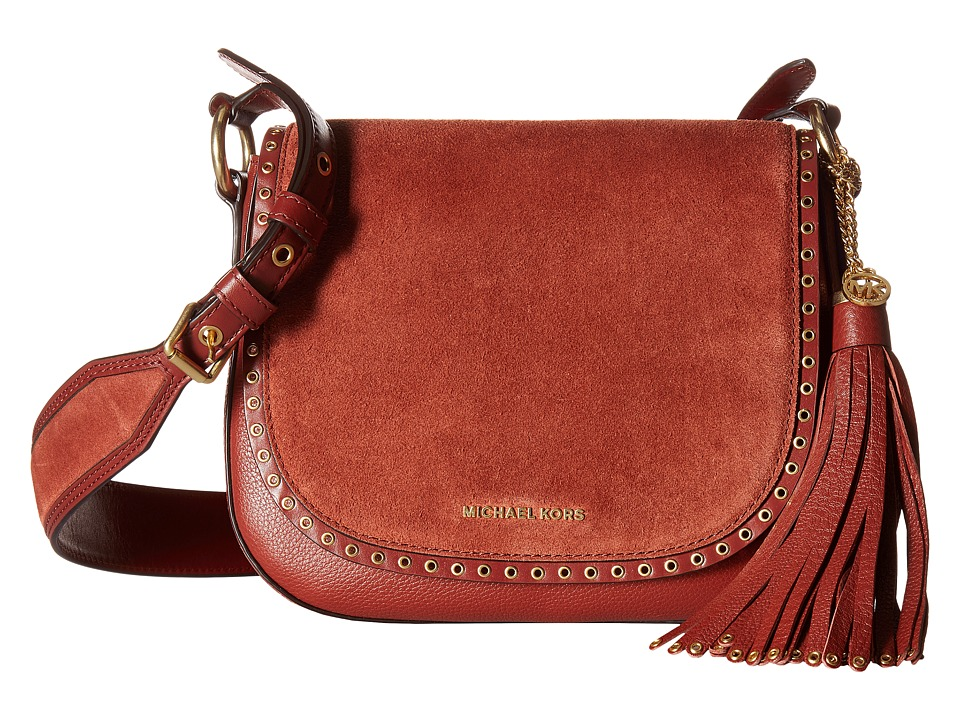 MICHAEL Michael Kors - Brooklyn Md Saddle Bag (Brick) Handbags