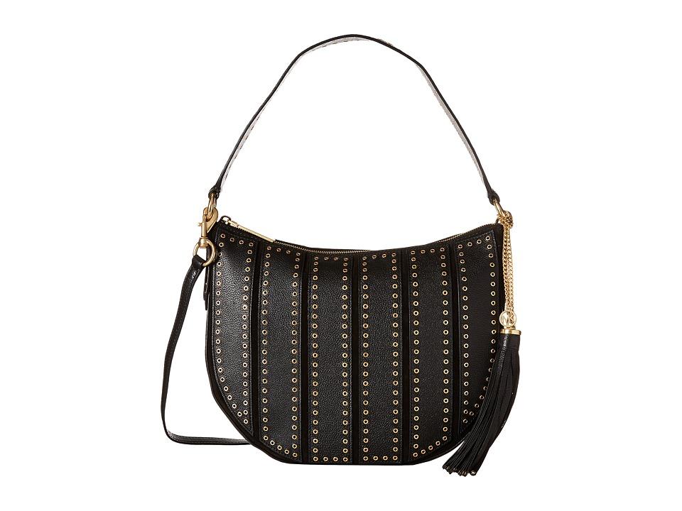 MICHAEL Michael Kors - Brooklyn Grommet Md Conv Hobo (Black) Hobo Handbags