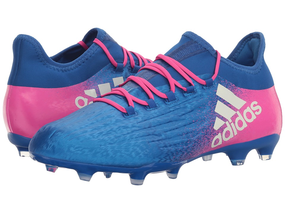 adidas - X 16.2 FG (Blue/Footwear White/Shock Pink) Men's Cleated Shoes