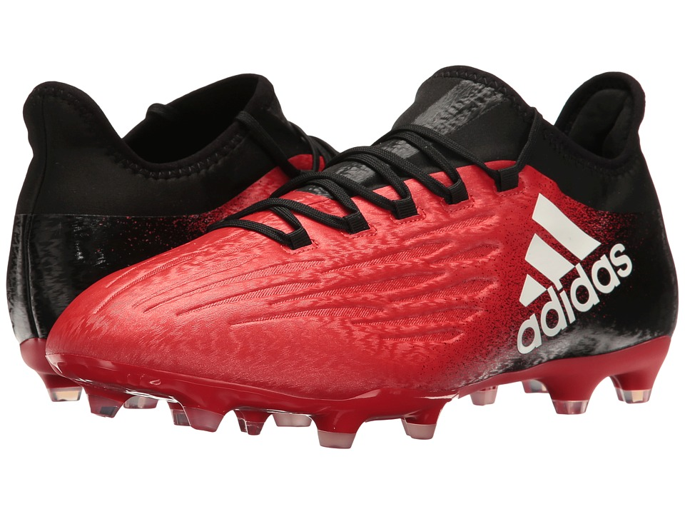 adidas - X 16.2 FG (Red/Footwear White/Core Black) Men's Cleated Shoes
