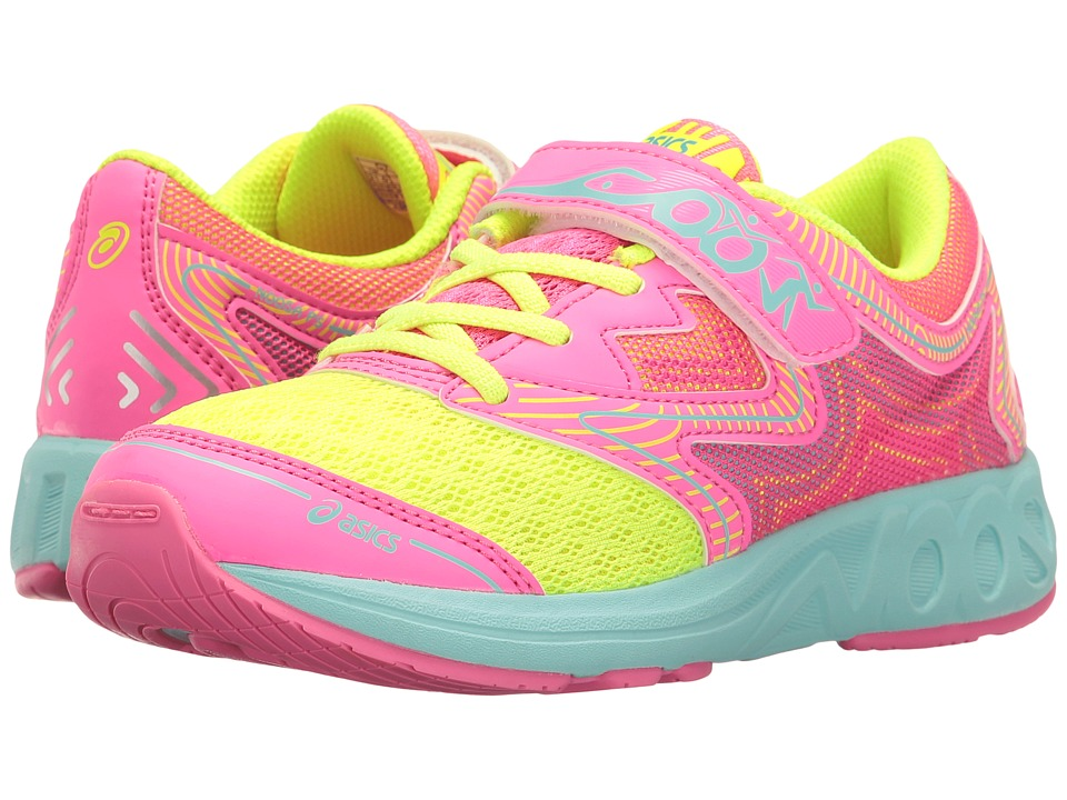 ASICS Kids - Noosa PS (Toddler/Little Kid) (Safety Yellow/Hot Pink/Aqua Splash) Girls Shoes