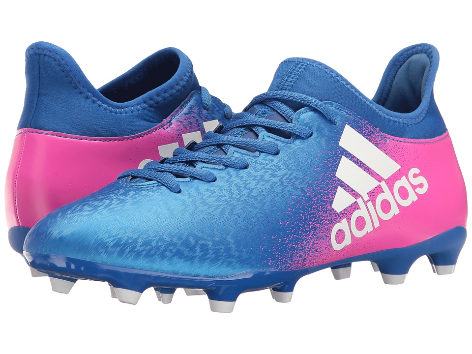 adidas - X 16.3 FG (Blue/Footwear White/Shock Pink) Men's Cleated Shoes