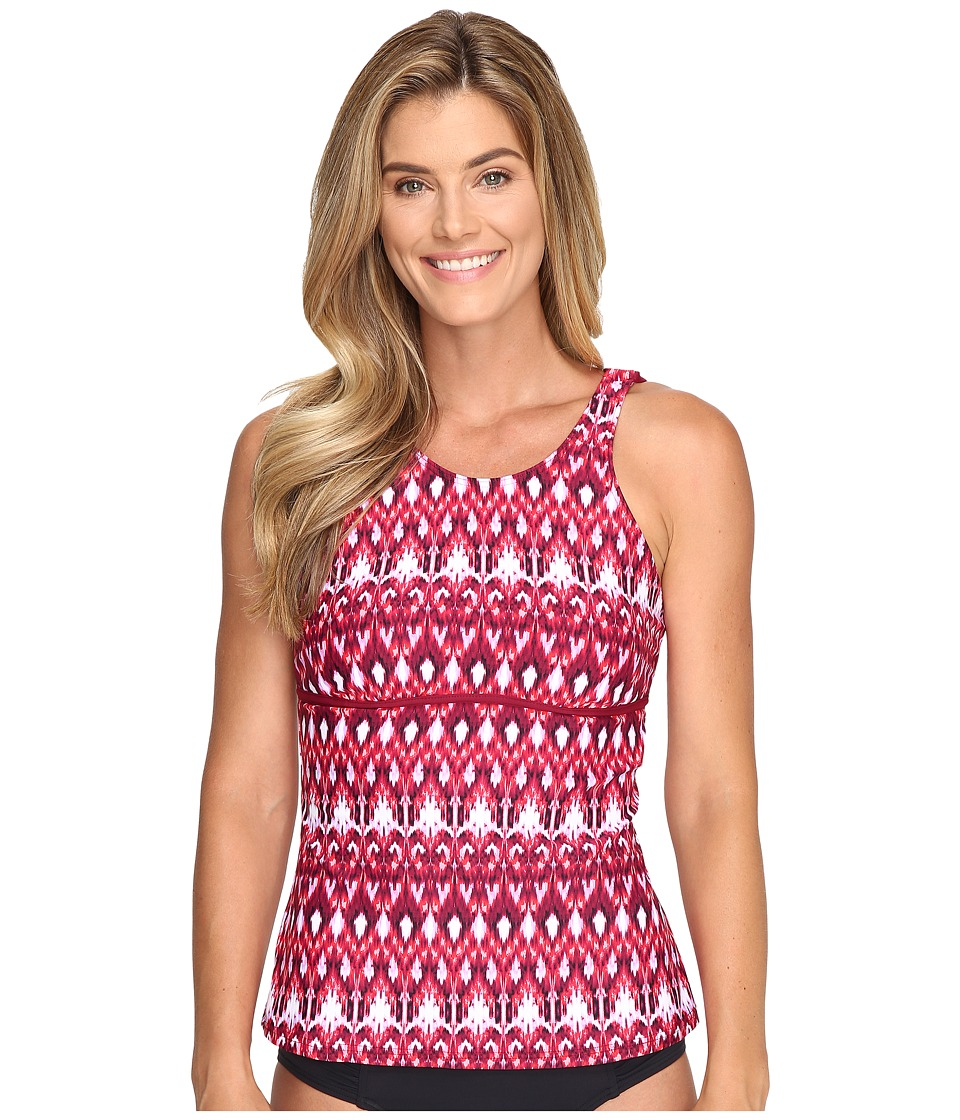 Next by Athena Native Mantra High Tide Tankini Top (Berry) Women