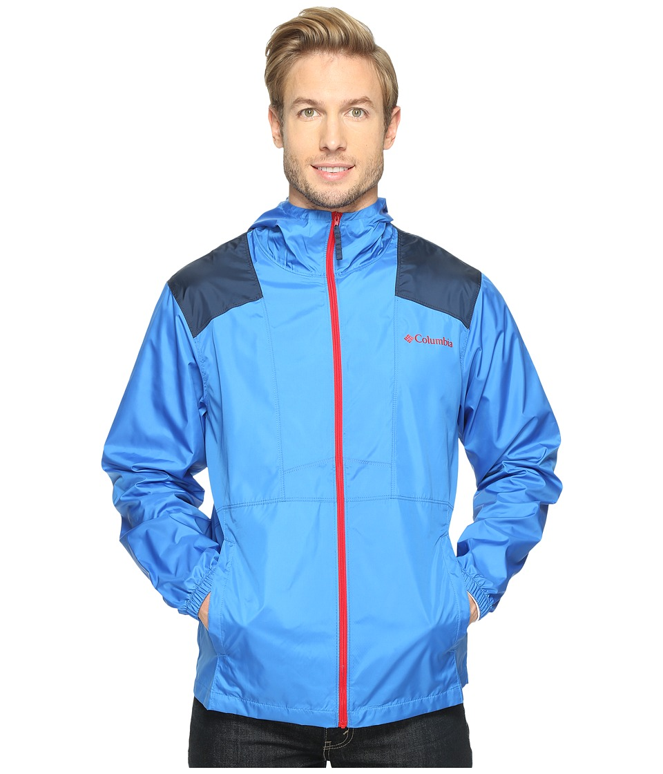 Columbia - Flashback Windbreaker (Story Blue/Collegiate Navy/mountain Red) Men's Coat