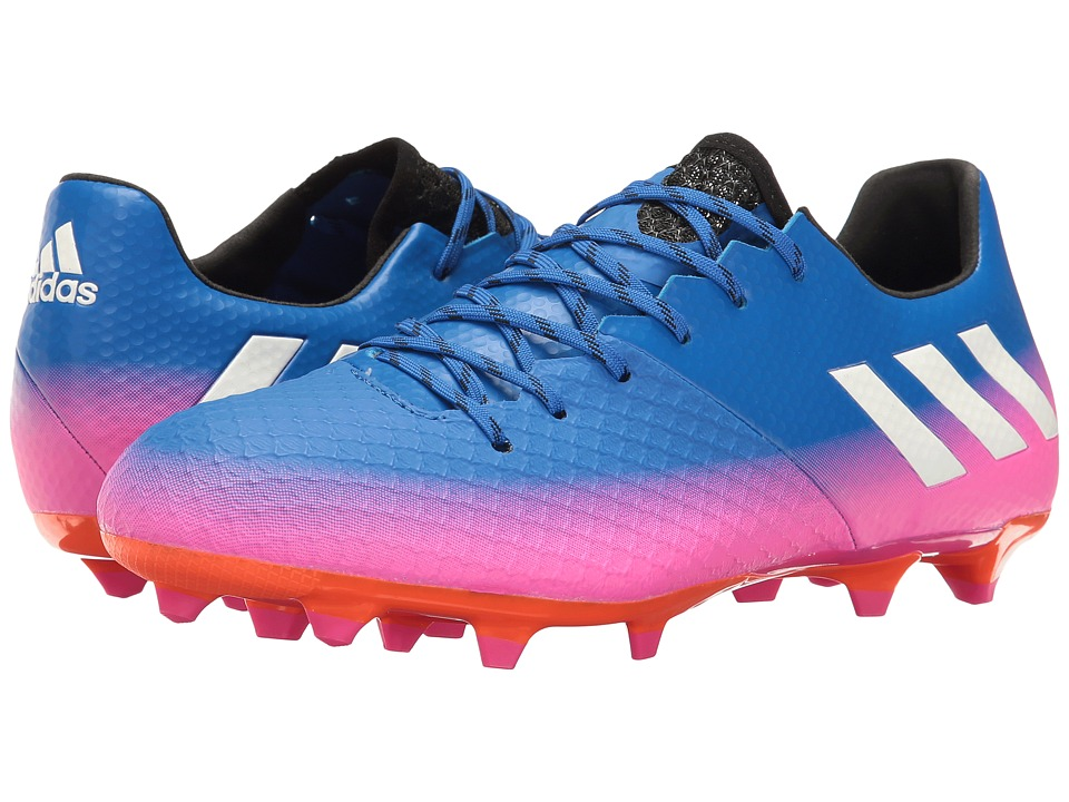 adidas - Messi 16.2 FG (Blue/Footwear White/Orange) Men's Cleated Shoes