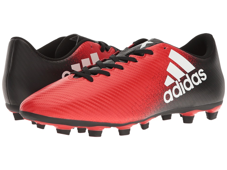adidas - X 16.4 FxG (Red/Footwear White/Core Black) Men's Cleated Shoes