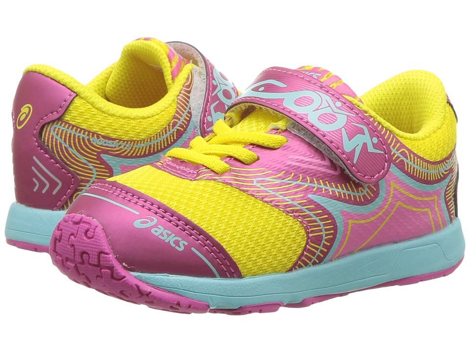 ASICS Kids - Noosa TS (Toddler) (Safety Yellow/Hot Pink/Aqua Splash) Girls Shoes
