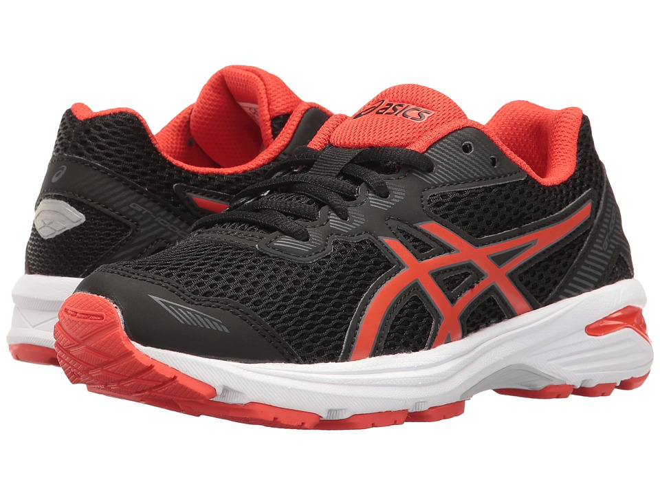ASICS Kids - GT-1000 5 GS (Little Kid/Big Kid) (Black/Vermillion/Carbon) Boys Shoes
