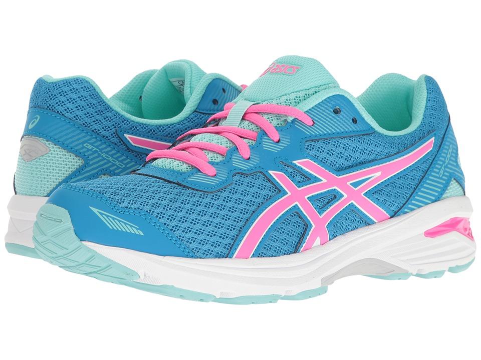 ASICS Kids - GT-1000 5 GS (Little Kid/Big Kid) (Diva Blue/Pink Glow/Aqua Splash) Girls Shoes