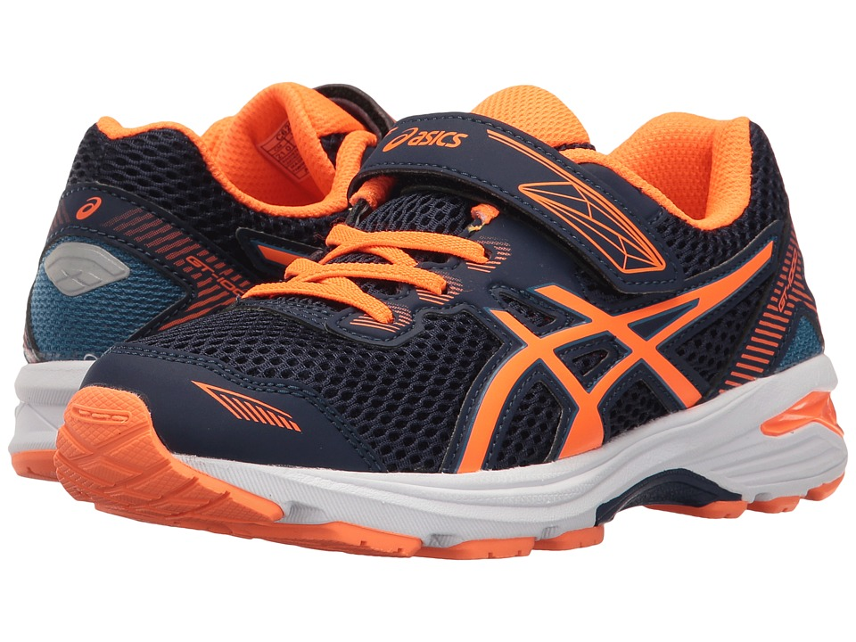 ASICS Kids - GT-1000 5 PS (Toddler/Little Kid) (Indigo Blue/Hot Orange/Thunder Blue) Boys Shoes
