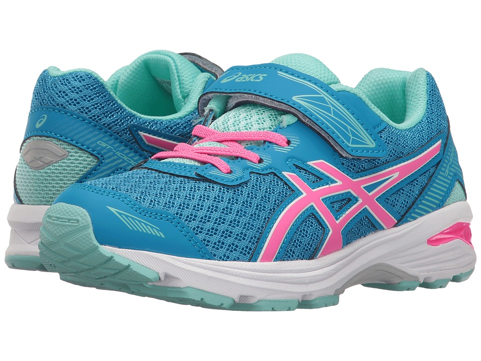 ASICS Kids - GT-1000 5 PS (Toddler/Little Kid) (Diva Blue/Pink Glow/Aqua Splash) Girls Shoes