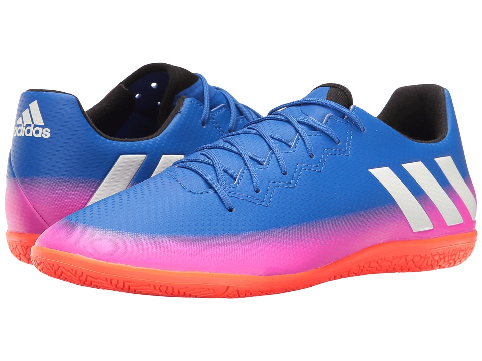 adidas - Messi 16.3 IN (Blue/Footwear White/Solar Orange) Men's Soccer Shoes