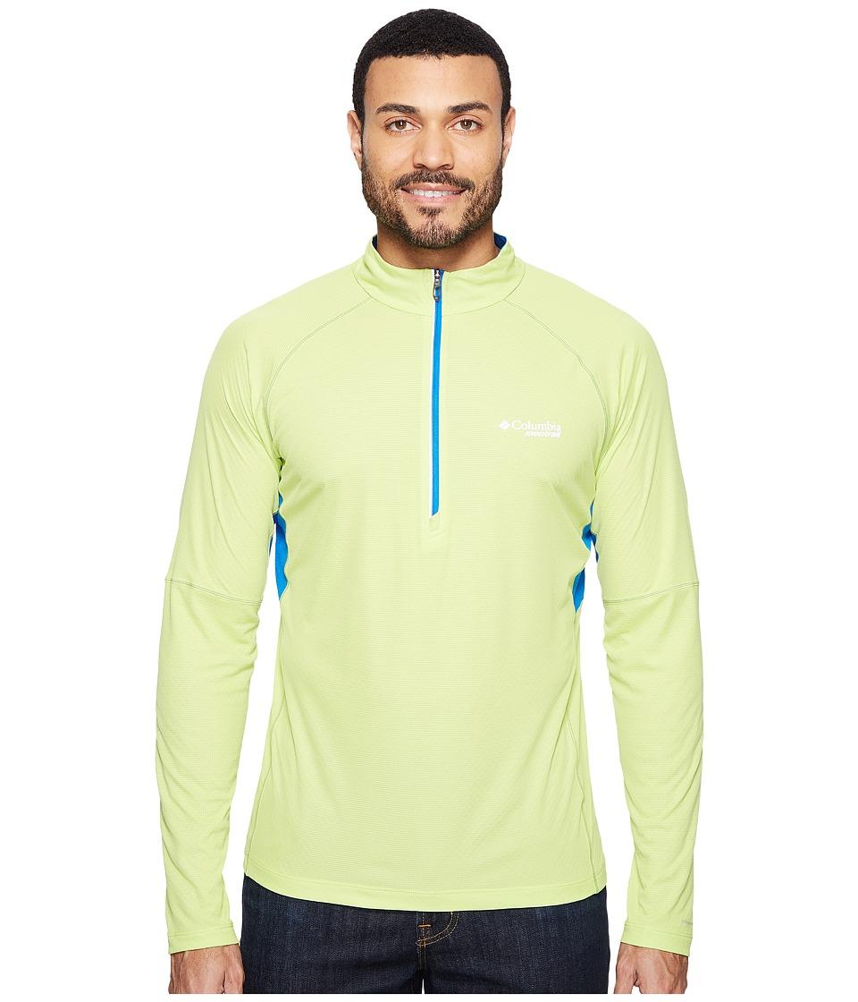 Columbia - Titan Ultra Half Zip Shirt (Voltage/Super Blue) Men's Long Sleeve Pullover