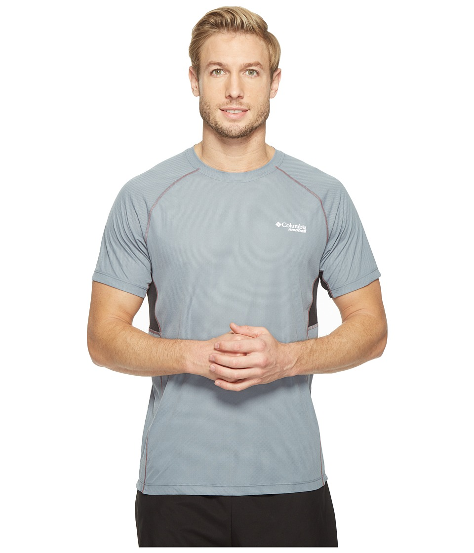 Columbia - Titan Ultra Short Sleeve Shirt (Grey Ash/Black) Men's Short Sleeve Pullover