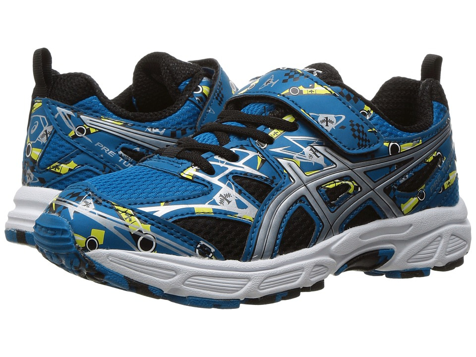 ASICS Kids - Pre-Turbo PS (Toddler/Little Kid) (Thunder Blue/Silver/Sun) Boys Shoes