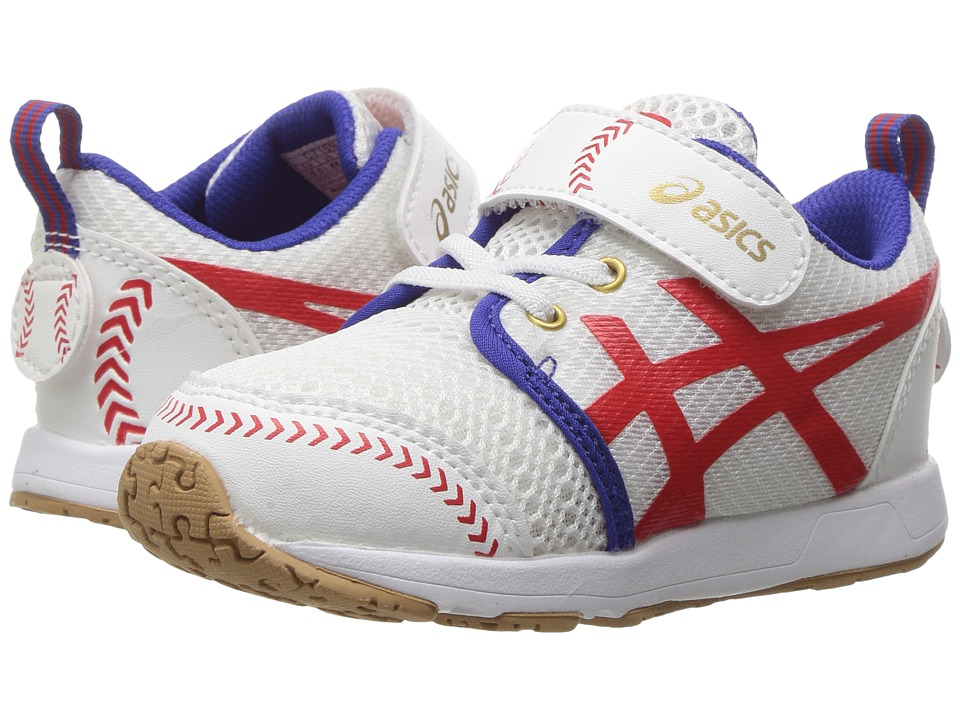 ASICS Kids - School Yard TS (Toddler) (Baseball White/Red) Boys Shoes