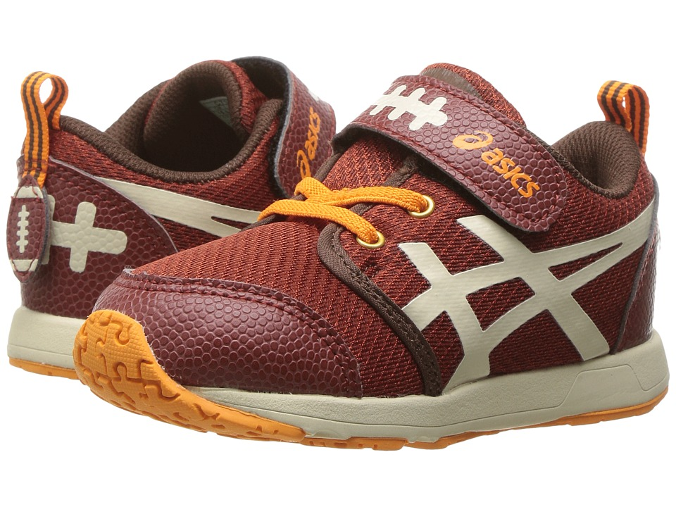 ASICS Kids - School Yard TS (Toddler) (Football Brown/Cream) Boys Shoes