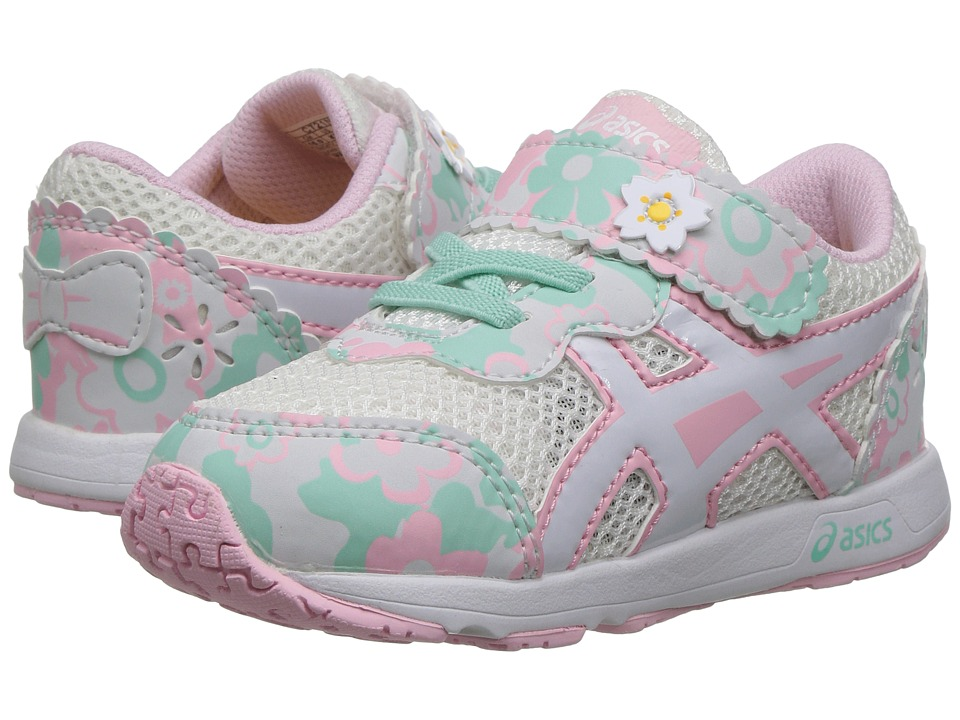 ASICS Kids - School Yard TS (Toddler) (Cherry Blossoms Snow/White) Girls Shoes