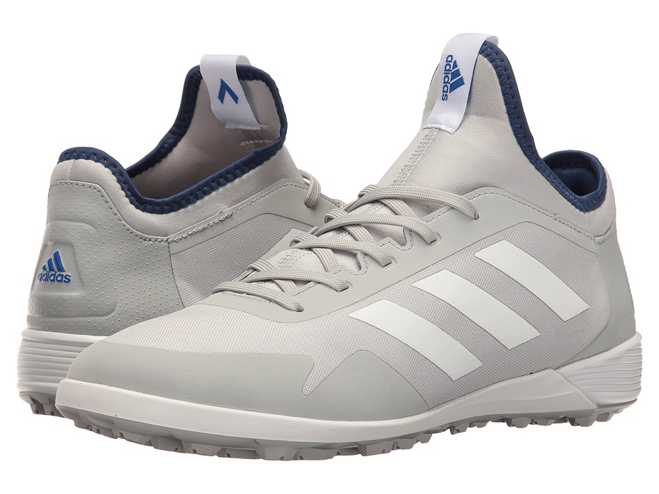 adidas - Ace Tango 17.2 TF (Clear Onix/Footwear White/Blue) Men's Soccer Shoes