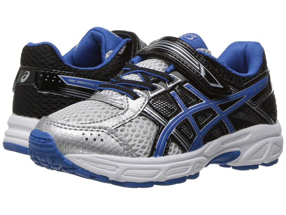 ASICS Kids - GEL-Contend 4 PS (Toddler/Little Kid) (Silver/Classic Blue/Black) Boys Shoes