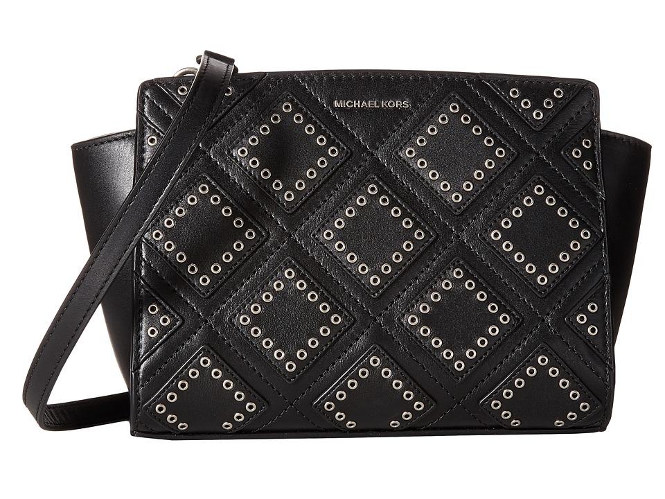MICHAEL Michael Kors - Diamond Grommet Selma Md Messenger (Black) Messenger Bags