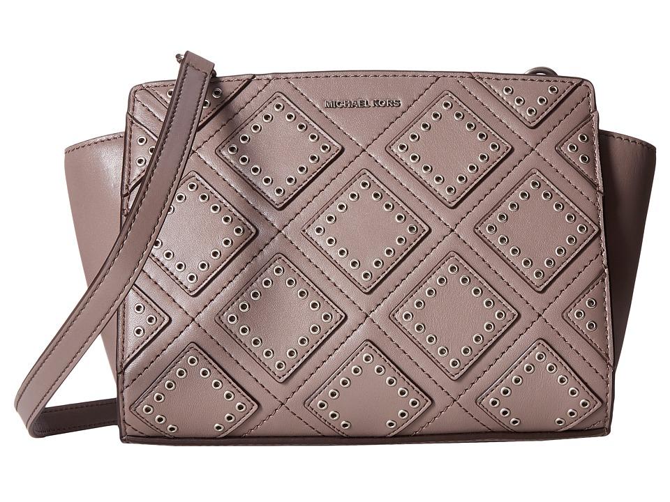 MICHAEL Michael Kors - Diamond Grommet Selma Md Messenger (Cinder) Messenger Bags