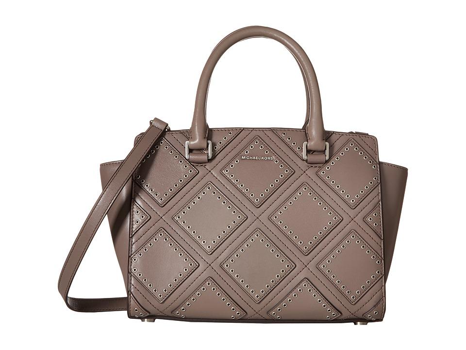 MICHAEL Michael Kors - Diamond Grommet Selma Md Tz Satchel (Cinder) Messenger Bags