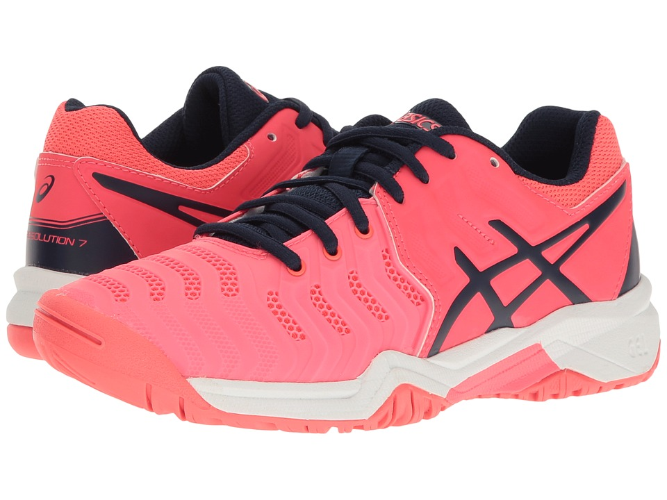 ASICS Kids - GEL-Resolution(r) 7 GS Tennis (Little Kid/Big Kid) (Diva Pink/Indigo Blue/White) Girls Shoes
