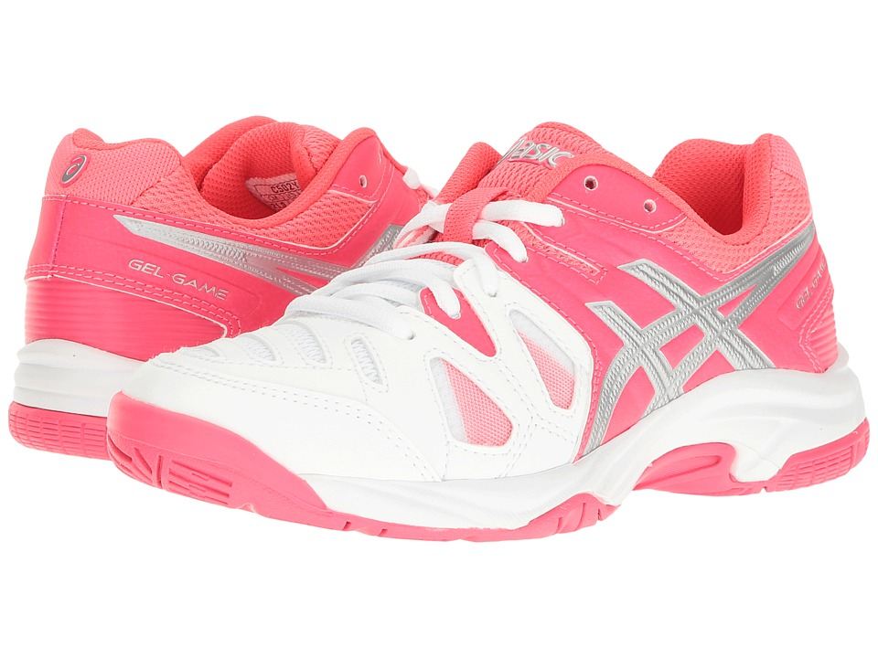 ASICS Kids Gel-Game(r) 5 GS (Little Kid/Big Kid) (White/Diva Pink/Silver) Girls Shoes