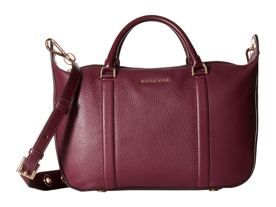 MICHAEL Michael Kors - Raven Lg Satchel (Plum) Satchel Handbags