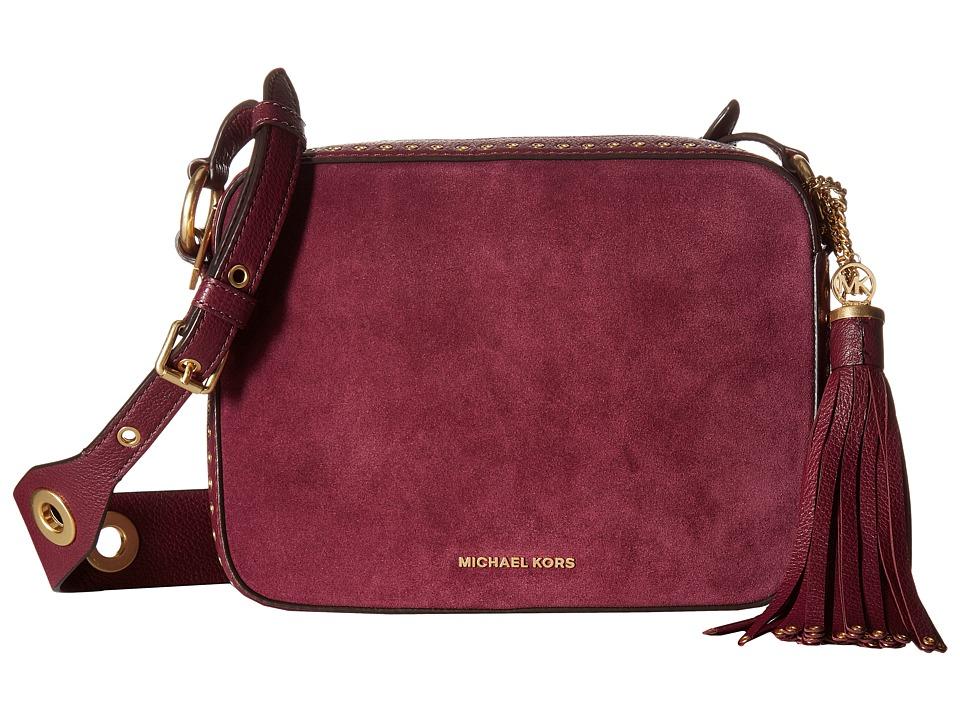 MICHAEL Michael Kors - Brooklyn Lg Camera Bag (Plum) Handbags