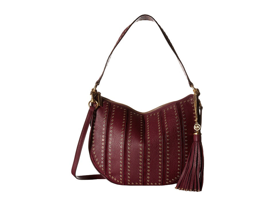 MICHAEL Michael Kors - Brooklyn Grommet Md Conv Hobo (Plum) Hobo Handbags
