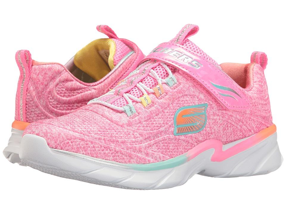 SKECHERS KIDS - Swirly Girl (Little Kid/Big Kid) (Pink/Multi) Girl's Shoes