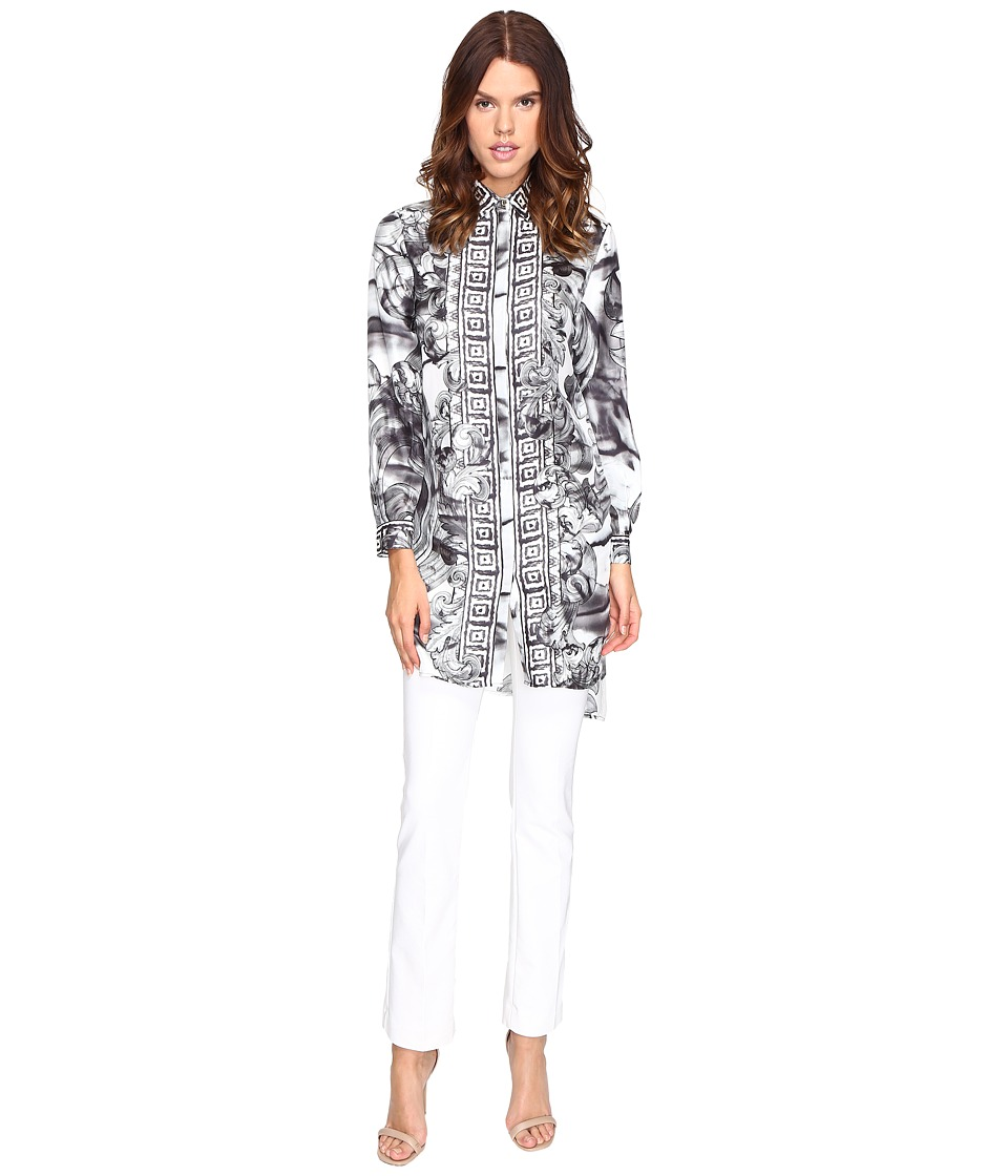 Versace Collection - Long Sleeve Printed Tunic (Nero/Stampa) Women's Blouse