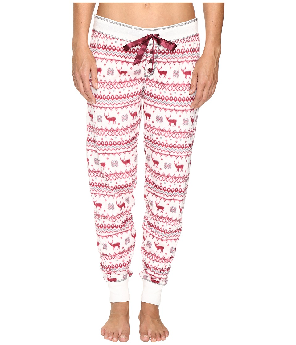 P.J. Salvage - Nordic Nostalgia Fleece Jogger Pants (Natural) Women's Pajama